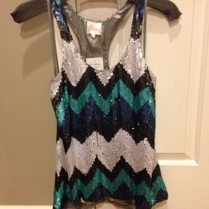 NWT Parker Sequins Dressy Top size S